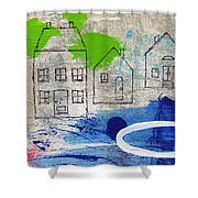 Lake Houses Shower Curtain by Linda Woods