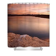 Lake Powell Dawn Shower Curtain by Mike  Dawson