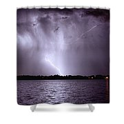 Lake Thunderstorm Shower Curtain by James BO  Insogna