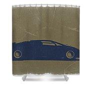 Lamborghini Countach Shower Curtain by Naxart Studio