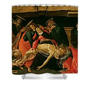 Lamentation Of Christ Shower Curtain by Sandro Botticelli