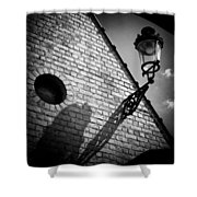 Lamp With Shadow Shower Curtain by Dave Bowman