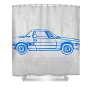 Lancia Stratos Shower Curtain by Naxart Studio