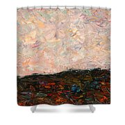 Land And Sky Shower Curtain by James W Johnson