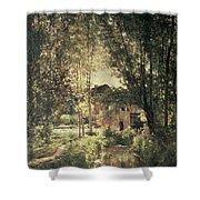 Landscape Shower Curtain by Charles Francois Daubigny