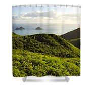 Lanikai Hills Shower Curtain by Dana Edmunds - Printscapes