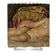 Large Nude Shower Curtain by Pierre Auguste Renoir