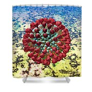 Lassa Virus Shower Curtain by Russell Kightley