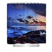 Last Light Shower Curtain by Chad Dutson