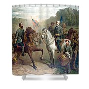 Last Meeting Of Lee And Jackson Shower Curtain by War Is Hell Store