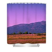 Late Afternoon In Taos Shower Curtain by David Patterson