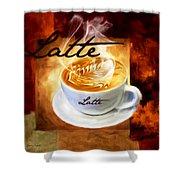 Latte Shower Curtain by Lourry Legarde