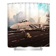 Launch The Alert 5 Shower Curtain by Marc Stewart