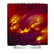 Lava Up Close Shower Curtain by Ron Dahlquist - Printscapes