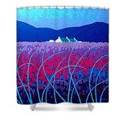 Lavender Scape Shower Curtain by John  Nolan