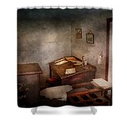Lawyer - The Law Office Shower Curtain by Mike Savad
