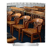 Lawyer - The Courtroom Shower Curtain by Paul Ward