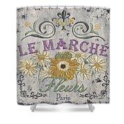 Le Marche Aux Fleurs 1 Shower Curtain by Debbie DeWitt