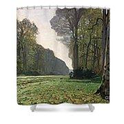 Le Pave De Chailly Shower Curtain by Claude Monet
