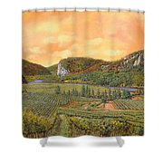 Le Vigne Nel 2010 Shower Curtain by Guido Borelli