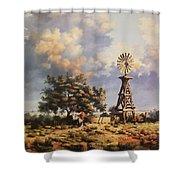 Lea County Memories Shower Curtain by Wanda Dansereau