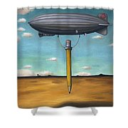 Lead Zeppelin Shower Curtain by Leah Saulnier The Painting Maniac