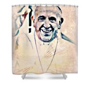 Leader For Peace, Community, Love Shower Curtain by WBK