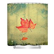 Leaf Upon The Water Shower Curtain by Bill Cannon