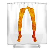 Legs of a fashion model Shower Curtain by Frank Tschakert