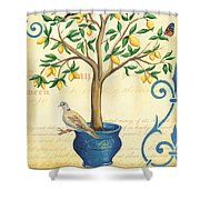 Lemon Tree Of Life Shower Curtain by Debbie DeWitt