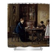 Lessons Shower Curtain by Helen Allingham