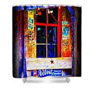 Let's Go To Luckenbach Texas Shower Curtain by Susanne Van Hulst