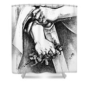 Liberty Is Not Anarchy Shower Curtain by Granger
