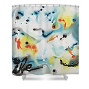Life Shower Curtain by Nadine Rippelmeyer