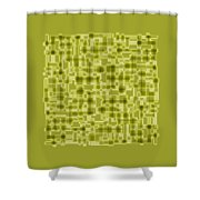 Light Green Abstract Shower Curtain by Frank Tschakert