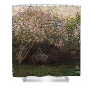 Lilacs Shower Curtain by Claude Monet