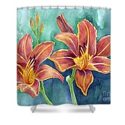 Lilies Shower Curtain by Eleonora Perlic