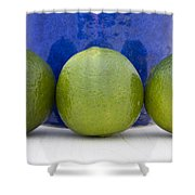 Lime Shower Curtain by Frank Tschakert