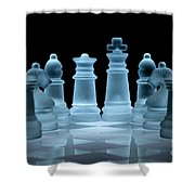 Lines Of Defence Shower Curtain by Ann Garrett