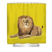 Lion painting Shower Curtain by Setsiri Silapasuwanchai
