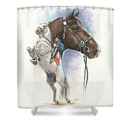 Lippizaner Shower Curtain by Barbara Keith
