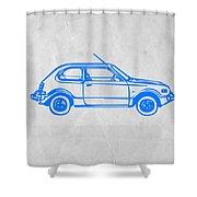 Little Car Shower Curtain by Naxart Studio