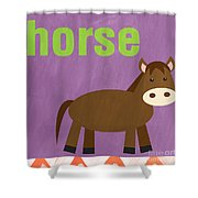 Little Horse Shower Curtain by Linda Woods