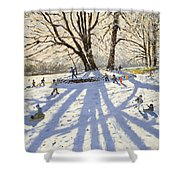 Lomberdale Hall Derbyshire Shower Curtain by Andrew Macara