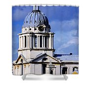 London Blues Shower Curtain by Stephen Anderson
