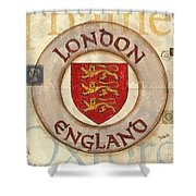 London Coat Of Arms Shower Curtain by Debbie DeWitt