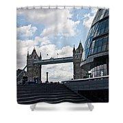 London Tower Bridge Shower Curtain by Dawn OConnor