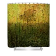 Lone Tree In Meadow -textured Shower Curtain by Dave Gordon