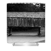 Long Barn Shower Curtain by David Lee Thompson