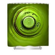 Looking Deep Into The Bottle Shower Curtain by Frank Tschakert